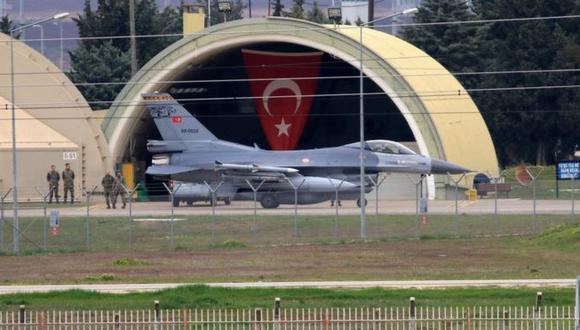 La base aérea de Incirlik es operada conjuntamente por Estados Unidos y Turquía. Foto: Getty images, vía BBC Mundo