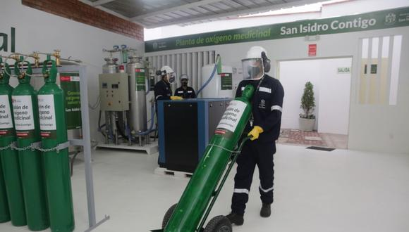 Esta planta de oxígeno medicinal implementada tiene una capacidad de producción máxima de 10 m³/hora. (Foto: Municipalidad de San Isidro)