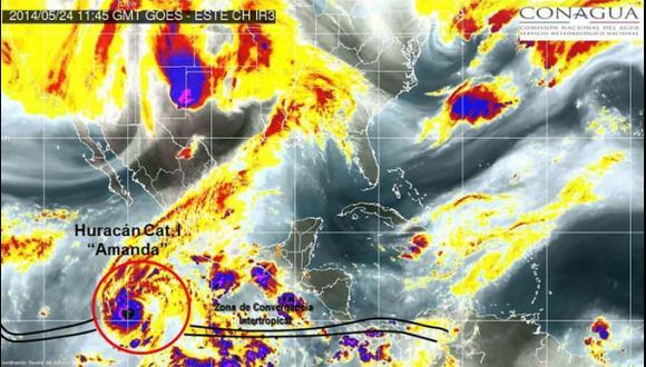 Amanda, el primer huracán de la temporada en el Pacífico