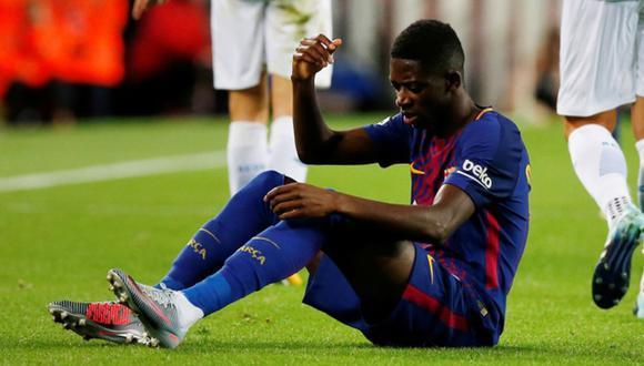 Ousmane Dembélé sufrió ante el Borussia Dortmund su tercera lesión en lo que va de la temporada con el Barcelona. (Foto: AFP)