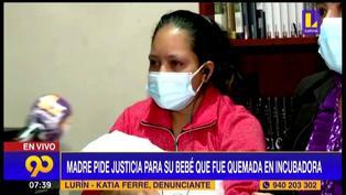 Lurín: Bebé sufre quemaduras en incubadora y luego le amputan la mano