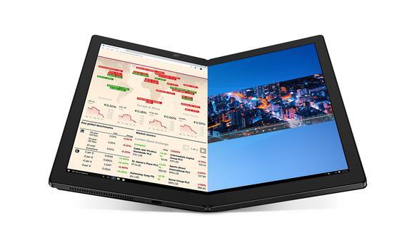 Mira todas las características de esta laptop tablet que se dobla en dos. La ThinkPad X1 Fold. (Foto: ThinkPad)