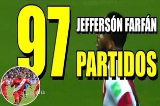 Jefferson Farfán cerca de los cien cotejos con Perú