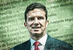 Crisis política: Las claves de los mensajes de WhatsApp al ministro Incháustegui