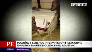 Policía interviene fiesta clandestina en El Agustino