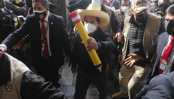 """El candidato presidencial de Perú Libre indicó que el """"Estado no promueve ni protege a las mujeres, y muchas veces termina escudando a feminicidas"""", pese a que más temprano indicó que """"los feminicidios son producto de la ociosidad"""". (Foto: El Comercio)"""