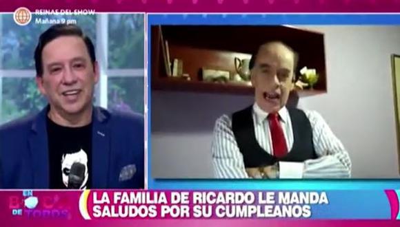 Ricardo Rondón se emociona hasta las lágrimas tras recibir saludo de cumpleaños de sus padres e hijo. (Foto: captura de video)