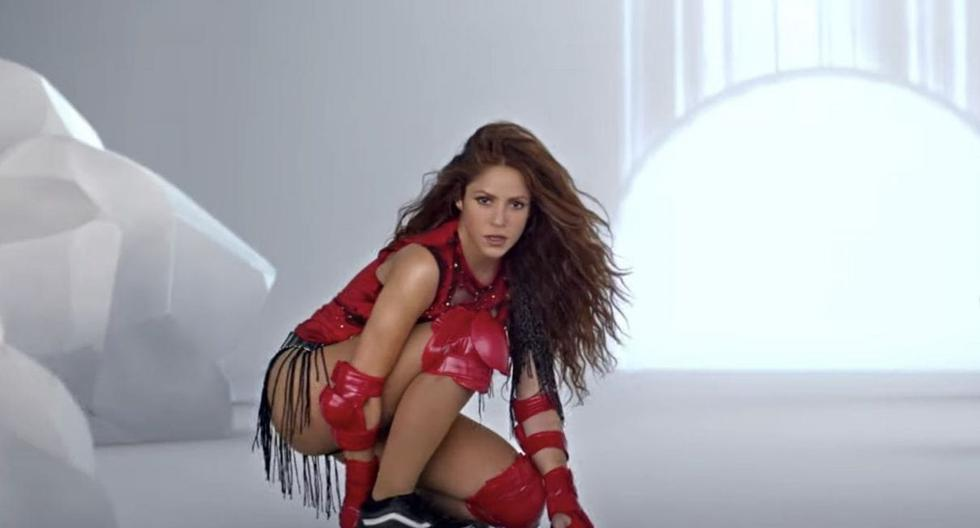 """Shakira reacted in this way when she learned that """"Girl Like Me"""" tops the Latin Billboard USA chart."""