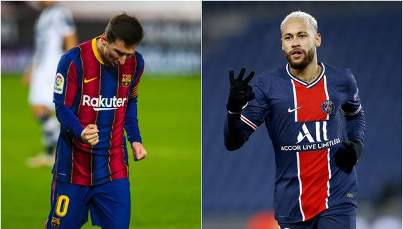 Lionel Messi y Neymar se enfrentarán en el Barcelona vs. PSG de la Champions League. (Fotos: @FCBarcelona_es/ EFE)