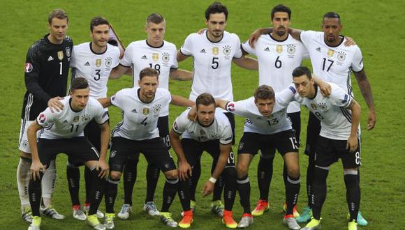 Selección alemana. (Foto: AP)