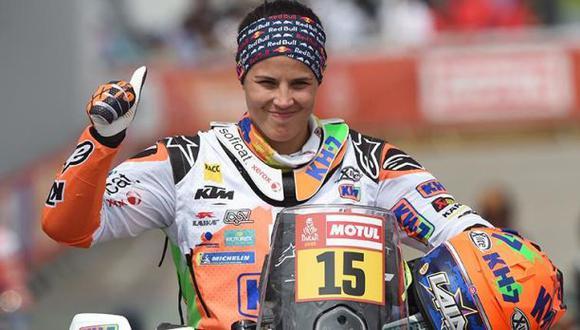 Laia Sanz es heptacampeona en la categoría motos del Dakar. (Foto: AFP)