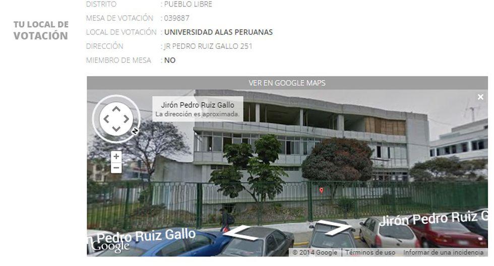 Elecciones: mira tu local de votación en Google Street View - 2