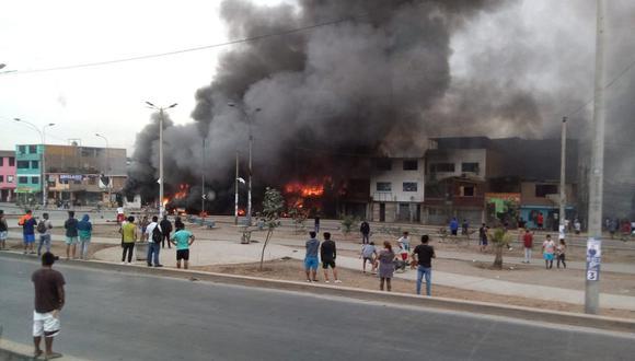 Hay varios heridos a causa del incendio. (Foto: Bomberos)