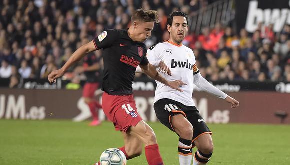 Atlético de Madrid igualó 2-2 con Valencia por la jornada 24 de LaLiga Santander. Revisa los resultados de todos los partidos de hoy, viernes 14 de febrero. (AFP)