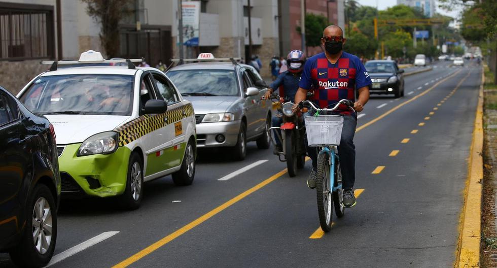 La pandemia dio impulso al uso de bicicletas como medio de desplazamiento ante la las limitaciones del transporte público con relación al aforo de los buses y el distanciamiento social. (Foto: Fernando Sangama/GEC)