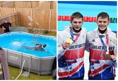 El nadador británico que pasó de entrenar en una piscina de lona en el jardín de su casa a ganar el oro en Tokio 2020