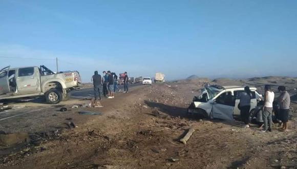 En imágenes se pudo evidenciar la magnitud del impacto (Foto: PNP)