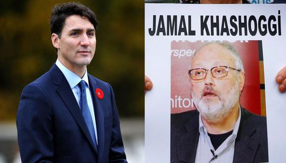 Justin Trudeau asegura que Canadá ha escuchado grabaciones del asesinato de Jamal Khashoggi. (AFP / Reuters)
