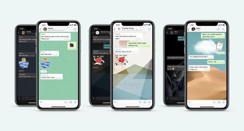 Una nueva actualización de WhatsApp permitirá a los usuarios personalizar los fondos de sus chats, entre otras nuevas funciones.  (Difusión)