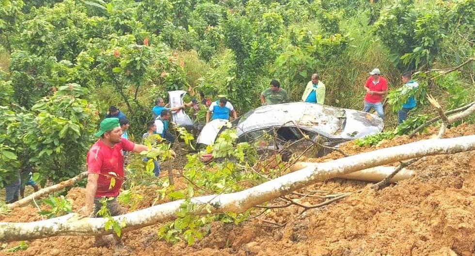 Hecho ocurrió en la carretera Fernando Belaúnde Terry, cerca de la localidad de Pendencia, en el distrito de Daniel Alomias Robles. (Foto: Lester Pereyra)