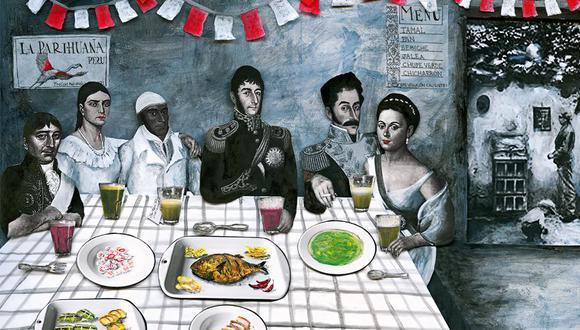 Banquete de Independencia. (Ilustración: Diana Kisner)