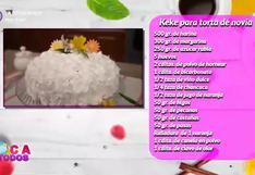 Tres minutos de dulzura: aprenda a preparar keke para torta de novia