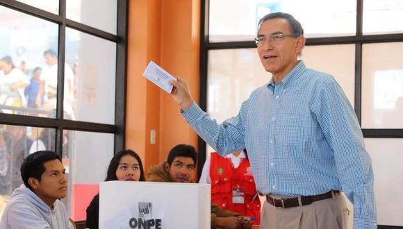 El presidente Martín Vizcarra, quien votó en Moquegua, indicó que recibirá los resultados de las elecciones en Palacio de Gobierno. (Foto: Presidencia)