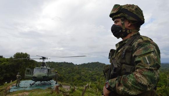 El municipio de Puerto Libertador, donde ocurrió el ataque, alberga vastos cultivos de coca, planta de la que se extrae la cocaína. (Foto referencial: Ejército de Colombia)