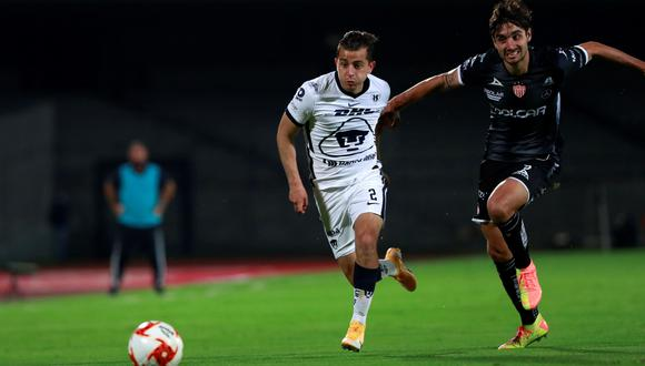 Pumas y Necaxa empataron 1-1 en el partido por la jornada 12 del Apertura 2020 de la Liga MX. (Foto: EFE)