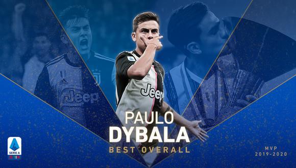 Paulo Dybala fue elegido el jugador más valioso de la Serie A. (Foto: Juventus)