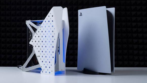 Así es de pequeña puede ser la consola con refrigeración líquida. (Foto: Twitter)