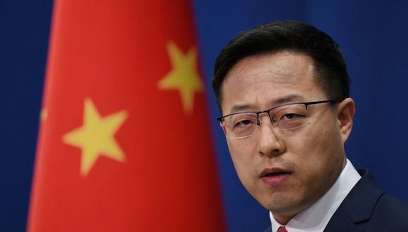 El portavoz de China, Zhao Lijian, se refirió al pacto AUKUS firmado por Estados Unidos, Reino Unido y Australia. (GREG BAKER / AFP).