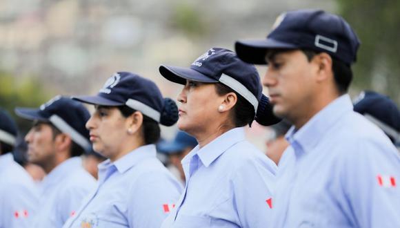 Los agentes de serenazgo de Lima vigilarán varias zonas de la ciudad por la final de la Copa Libertadores 2019. (Municipalidad de Lima)