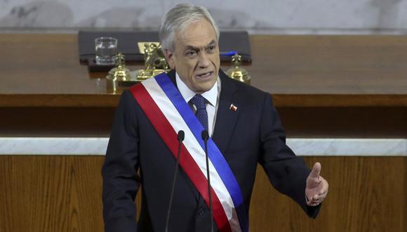 El presidente de Chile, Sebastián Piñera, entrega su mensaje anual a la nación en el Congreso en Valparaíso, en Chile. (Foto: Archivo / Enrique ALARCON / AFP).