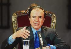 Carlos Menem: muere ex presidente de Argentina a los 90 años