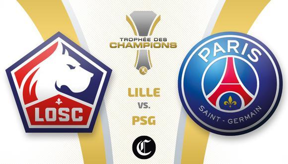 PSG vs. Lille: chocan en Tel Aviv por la Supercopa de Francia. (Diseño: El Comercio)