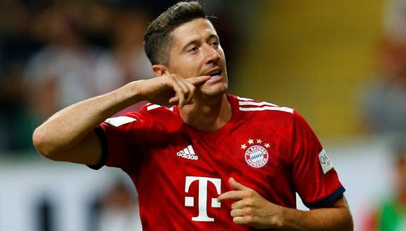 Bayern Múnich alzó el primer título de la temporada 2018-19. Venció sin problemas al Eintracht Frankfurt. La figura fue Robert Lewandowski, quien concretó un hat-trick. (Foto: AFP)