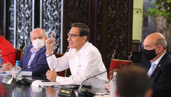El presidente Martín Vizcarra ofreció hoy un pronunciamiento en el que anunció la intervención del Minsa en Arequipa para hacer frente al avance del COVID-19 en la región del sur del país.
