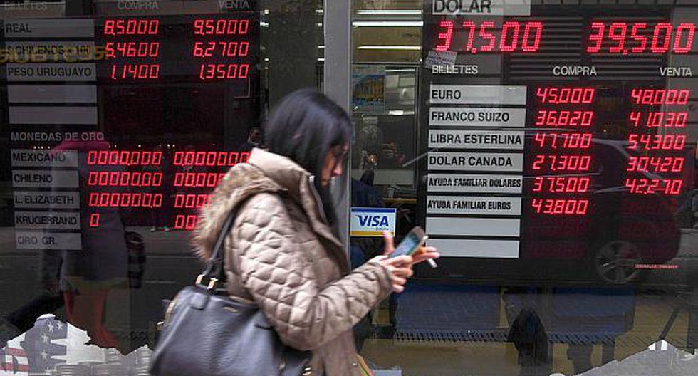 El dólar sigue subiendo en el mercado argentino. (Foto: AFP)