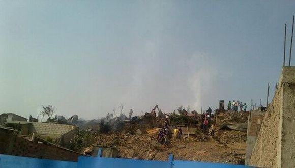 Incendio consumió siete viviendas en asentamiento humano de VMT