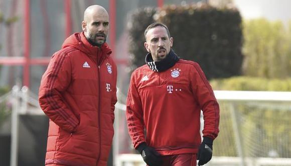 Franck Ribéry arremete contra Pep Guardiola con estas palabras