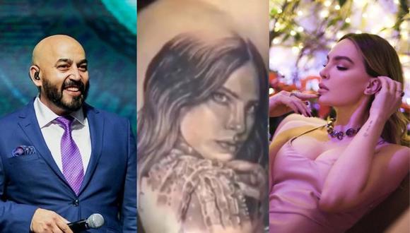 Lupillo Rivera: su hermano Juan Rivera se burla del tatuaje con el que borró el rostro de Belinda. (Foto: @lupilloriveraofficial/@belindapop).