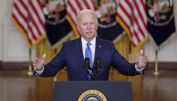 El presidente de Estados Unidos, Joe Biden, habla en el Salón Este de la Casa Blanca en Washington, DC, Estados Unidos. (Foto: Stefani Reynolds / Bloomberg).