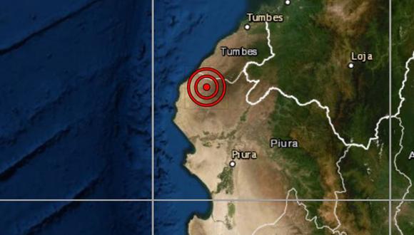 De acuerdo con el IGP, el epicentro de este movimiento telúrico se ubicó a 73 kilómetros al este de Máncora. (Foto: IGP)
