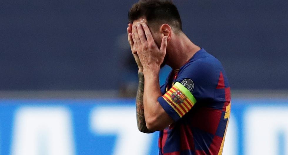 Jugadores del Barcelona lamentándose tras la derrota ante Bayern Múnich por los cuartos de final de la Champions League | Foto: REUTERS
