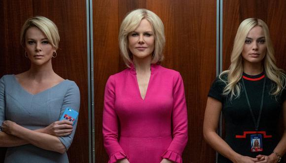 "Charlize Theron, Nicole Kidman y Margot Robbie protagonizan ""Bombshell"" (""El escándalo""). (Foto: Difusión)"