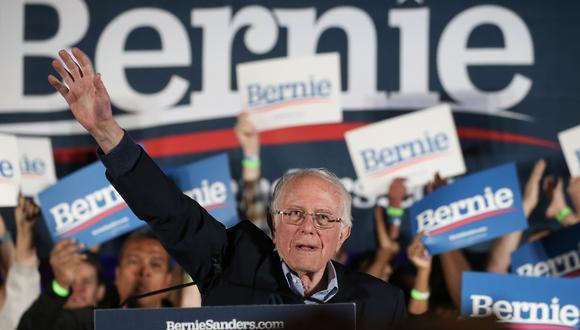 Bernie Sanders, precandidato del Partido Demócrata para las elecciones de noviembre en Estados Unidos. (Mario Tama/Getty Images/AFP).