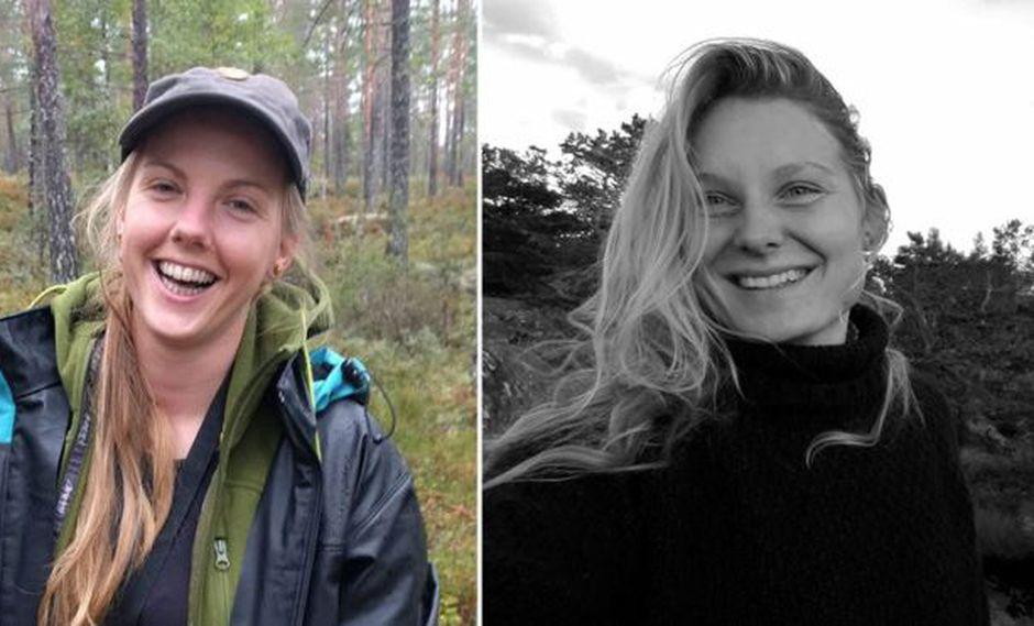 Maren Ueland (izquierda) y Louisa Vesterager Jespersen fueron halladas muertas en un área montañosa de gran afluencia turística en Marruecos.