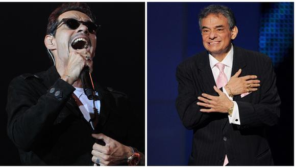 Marc Anthony le rinde homenaje al fallecido cantante José José. (Fotos: Agencias)