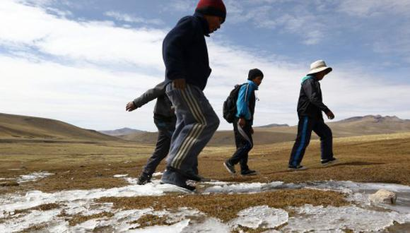 Cuatro regiones del sur registraron las temperaturas más frías